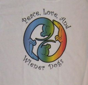 Photo of Peace Love and Weiner Dogs t-shirt